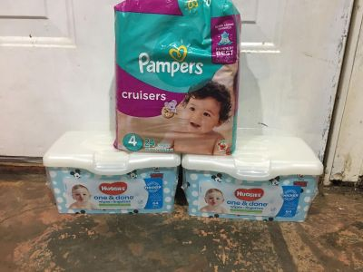 Pampers diapers and Huggies wipes