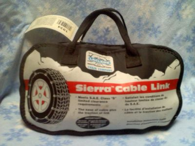 Tire Chains: Laclede Sierra Cable Link - Fits: P235/50R-13 to P215/45R-17 *Like New*