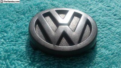 VW Vanagon Steering Wheel Brown Emblem Only