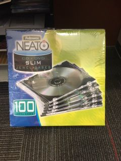 Fellowes/Neato CD/DVD Slim Jewel Cases
