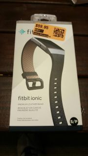 fitbit ionic premium leather band