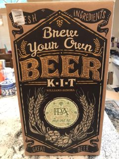 Williams Sonoma Brew your own beer kit + 16 bottles