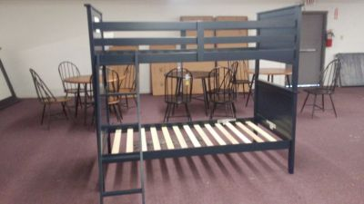 NEW Wood Bunk Bed Frame