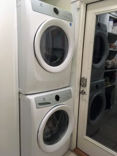 Front Load Electrolux LuxCare Stacking Clothes Washer and Dryer - electric