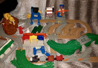 Huge Geotrax remote control train set. Put together was too big to fit in a picture $25