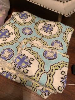 Really cute King quilt with two pillow shams