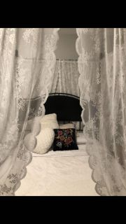 Contemporary Rustic Modern Queen Canopy Bed
