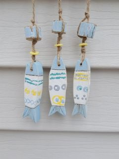 Wooden Fish Wind Chime Decor