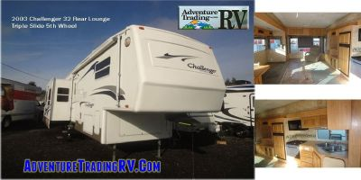 2003 Challenger 32 Rear Lounge Triple Slide 5th Wheel