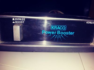 Kraco 40 watt car stereo power booster