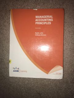 Managerial accounting textbook & workbook