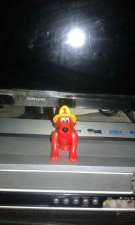 PBS Kids Clifford The Big Red Dog Fireman Hat 3 Inch Toy