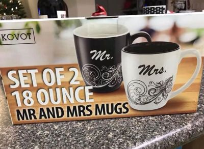 His & Hers Coffee Mugs - New
