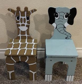 Wooden Animal Chairs - Kids