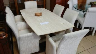 Granit Top Dinning Table w/ Chairs