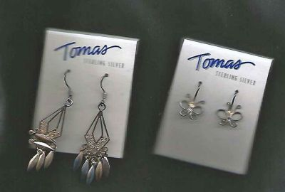 2 Pair Thomas Sterling Silver Earrings