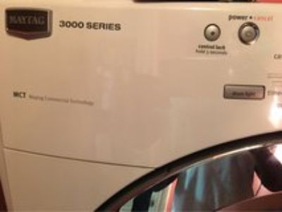 Maytag frontload washer and dryer
