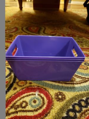 Brand new without tags Purple small plastic storage containers set of 3