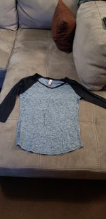 Cute Baseball Style Top Size Large. Excellent Condition
