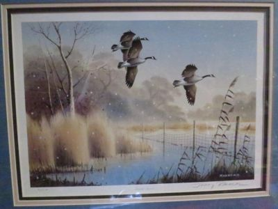 Gentle Snow Limited Edition Print by Jerry Raedeke Hand Signed