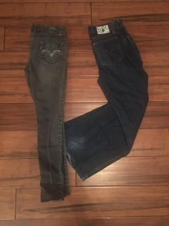 Two Pair of Jeans - Girl s 12