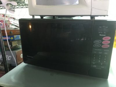 Newer black microwave