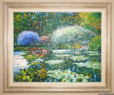 The Pond, Giverny, Original Oil on Canvas by Howard Behrens