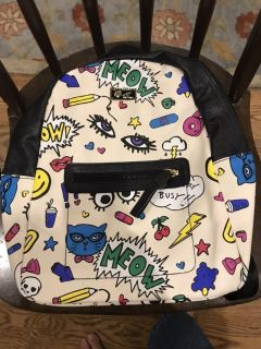 Love Betsey cute multi color backpack