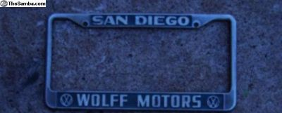 [WTB] Wolff Motors License Plate Frames