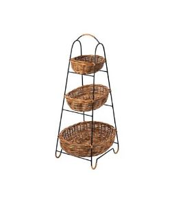 Tier Baskets on Iron Rack