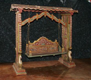 $3,200, Wooden Antique Handpainted Swing
