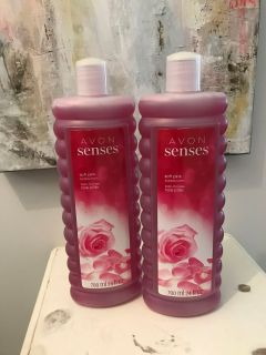 2 Avon Senses Soft Pink Bubble Bath - New Unopened/Sealed