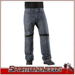 Sell Icon Victory Riding Black Knee Overpant New Waist 34 motorcycle in Elkhart, Indiana, US, for US $120.00