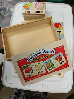 Ryming Words Picture Puzzles