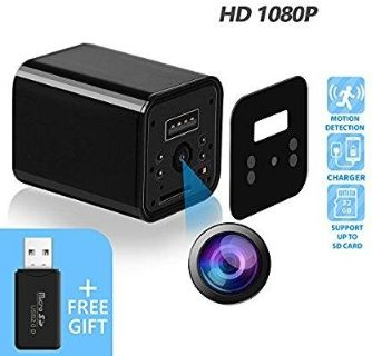 NEW: 1080p USB WALL PLUG SPY CAMERA with Motion Detection and Loop Recording