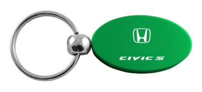 Purchase Honda Civic SI Green Oval Keychain / Key fob Engraved in USA Genuine motorcycle in San Tan Valley, Arizona, US, for US $14.61
