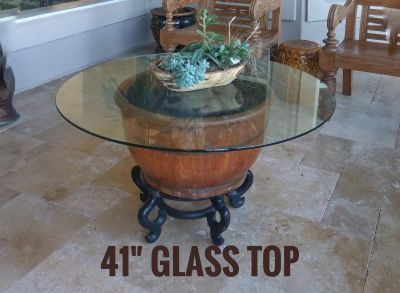 Antique Japanese water barrel coffee table