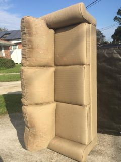 Free ASHLEY COUCH put out for garbage 80x38x23 Topical Stains, Never Sat In