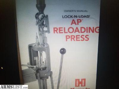 For Sale: Hornady Lock n Load AP reloading press