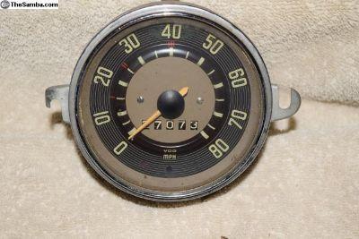 VW VDO Speedometer Date Stamped 11/65 80 MPH