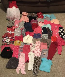 Huge baby girl lot! NB , 3 months and 3-6 months