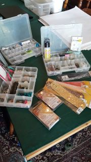 Jewelry, keychain, and hair bow making supplies
