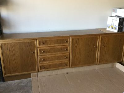 Solid wood buffet storage cabinet