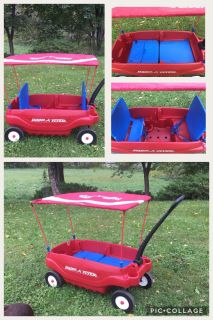 Radio Flyer Wagon w/Canopy, nice condition **READ PICK-UP DETAILS BELOW