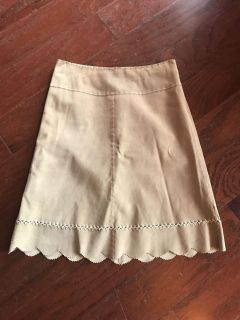 Size 2 Suede skirt