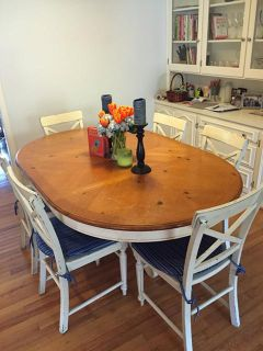 $300, Kitchen Dining Table with 6 chairs