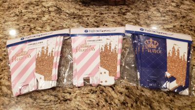Kids party treat boxes. Prince &Princess set of 12 each $20 for all