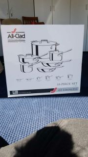 All Clad D5 Stainless Steel 10 Pc set