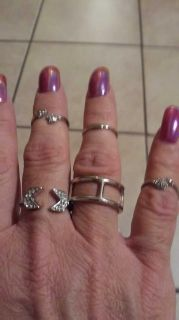 Adjustable rings from Charlotte russe