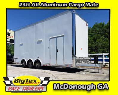 2019 Cargo Mate 8.5x24 ALL ALUMINUM Stacker w/ Full Floor Li